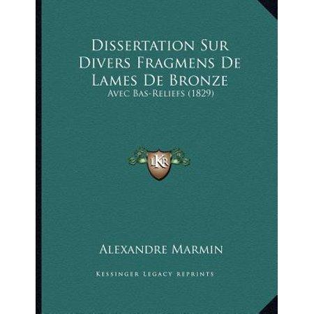 Bronze Bas Relief (Dissertation Sur Divers Fragmens de Lames de Bronze : Avec Bas-Reliefs)