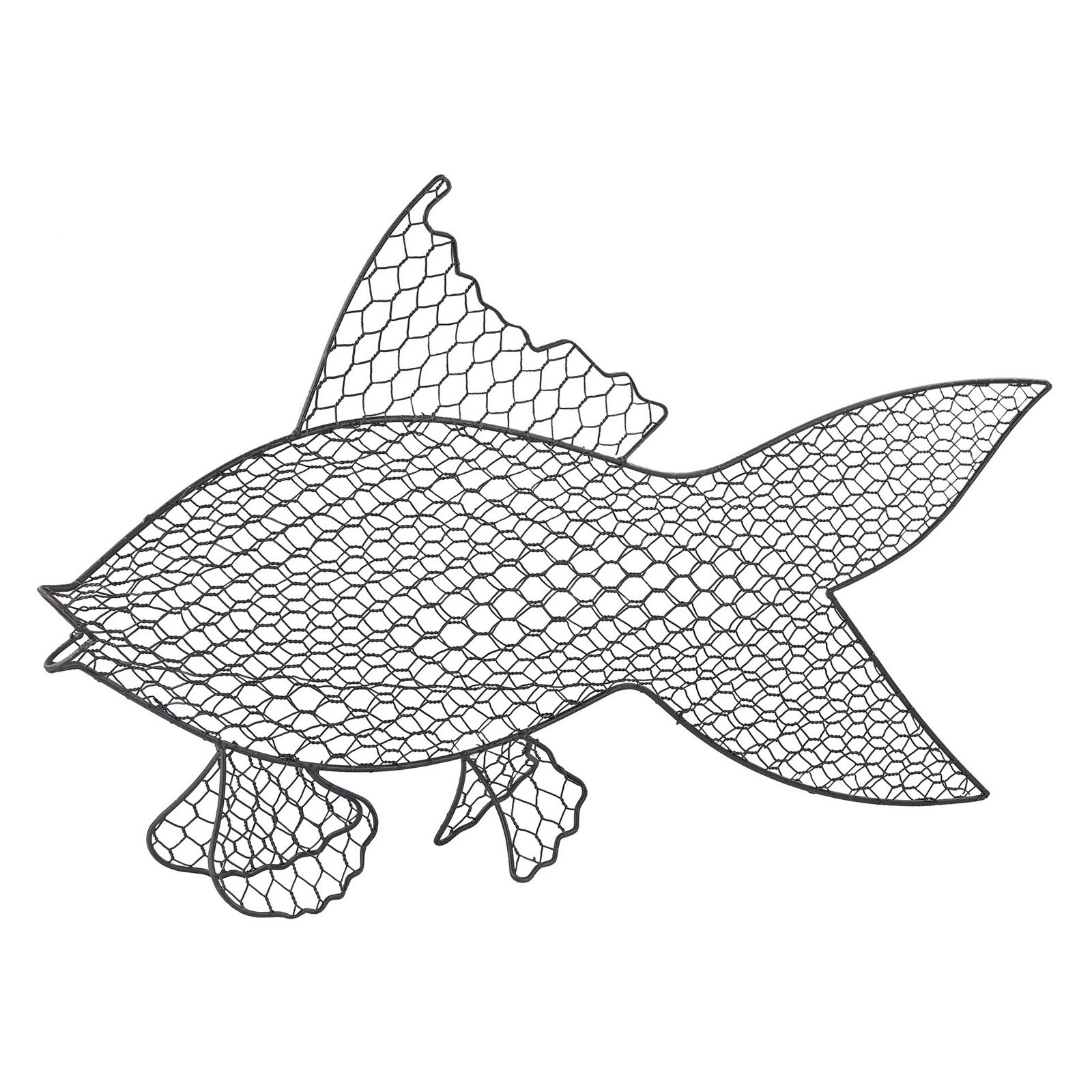 Sterling Wire Fish Wall Sculpture