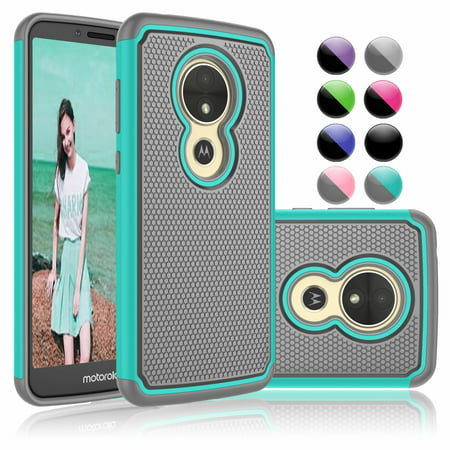 Moto E5 Play Case, Moto E5 Cruise Sturdy Case, Njjex [Shock Absorption] Drop Protection Hybrid Dual Layer Armor Defender Protective Case Cover For Motorola Moto E5 Play 5.2