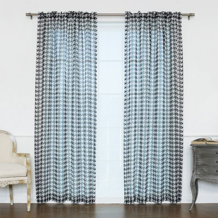 Best Home Fashion Sheer Houndstooth Curtains