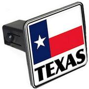 "Texas, Flag 1.25"" Tow Trailer Hitch Cover Plug Insert"