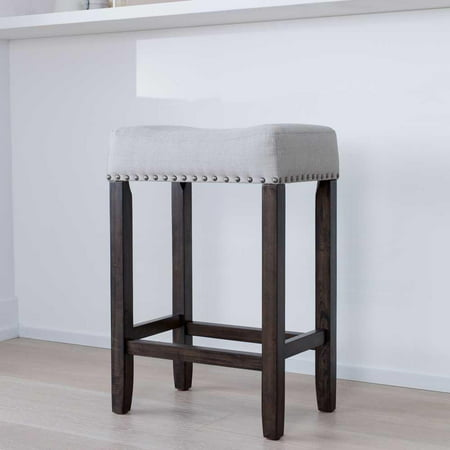 Hylie Wood Kitchen Counter Bar Stool, 24\