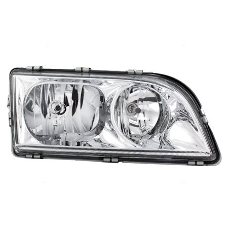 Volvo Headlight - Passengers Headlight Headlamp with Chrome Bezel Replacement for Volvo 308652684