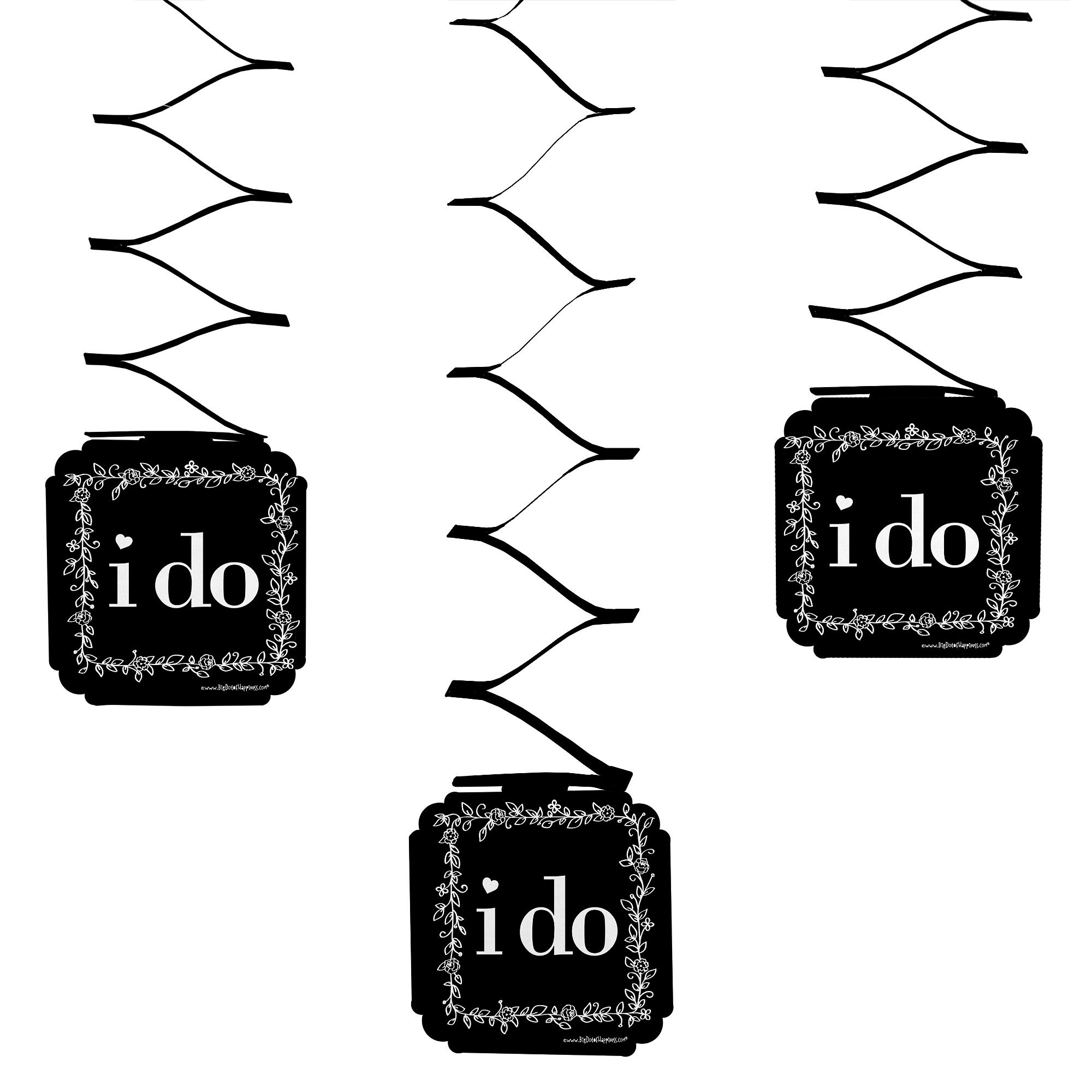 I Do - Wedding Hanging Decorations - 6 Count
