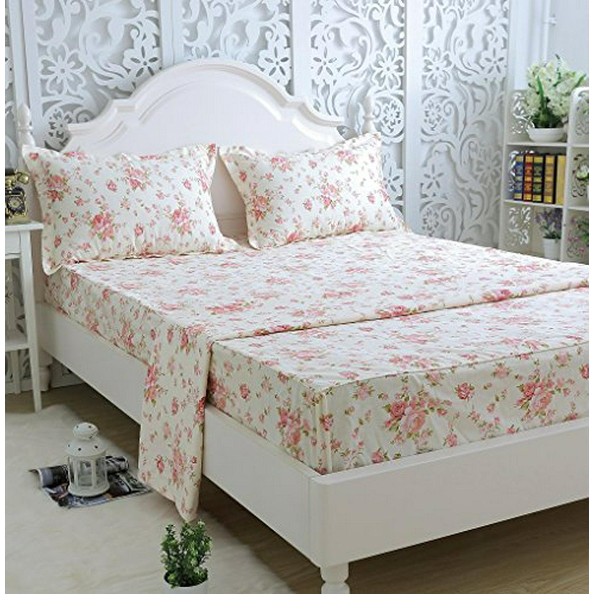 Brandream Full Size Sheets Cotton Farmhouse Bedding Sets Shabby Floral Bed Sheet Set Deep Pockets 18 Inch Walmart Canada