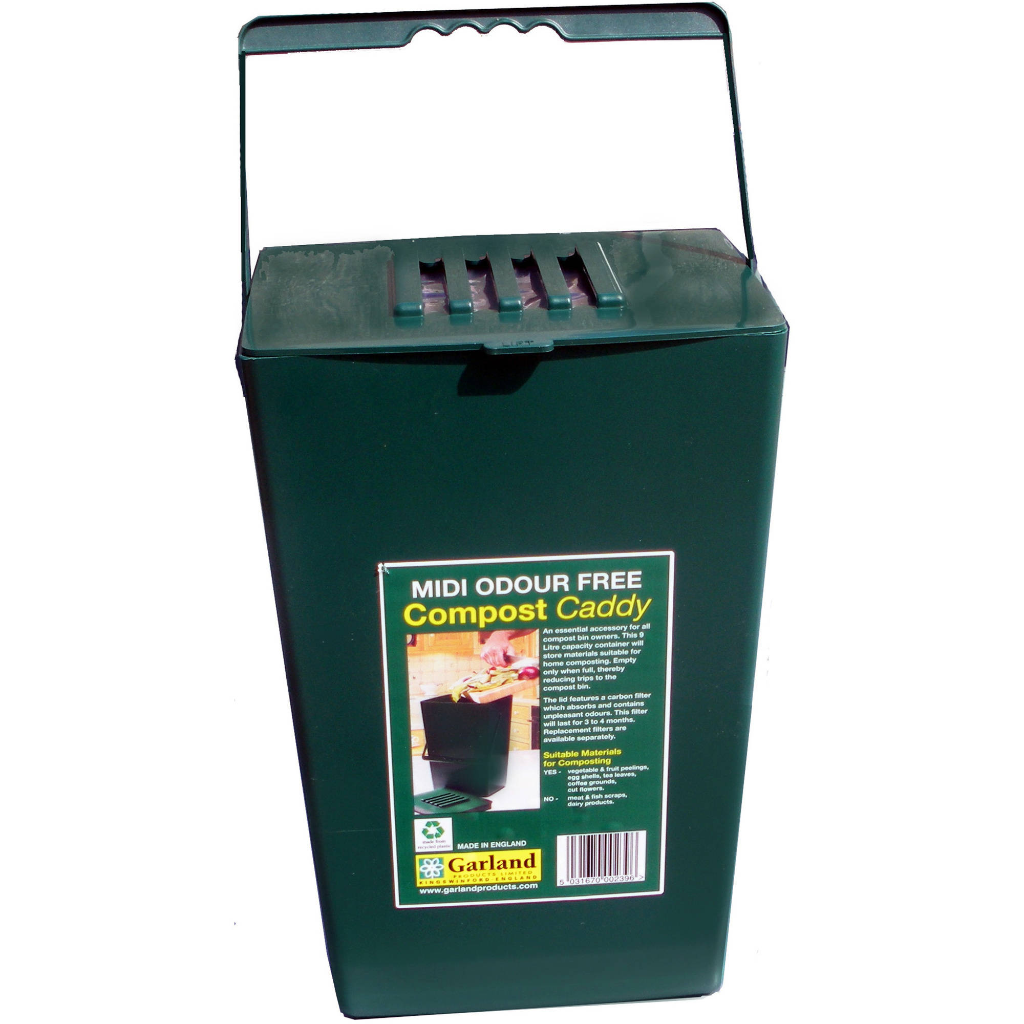 2.4-Gallon Kitchen Compost Bin with Free Carbon Filter to Eliminate Odor by GARLAND