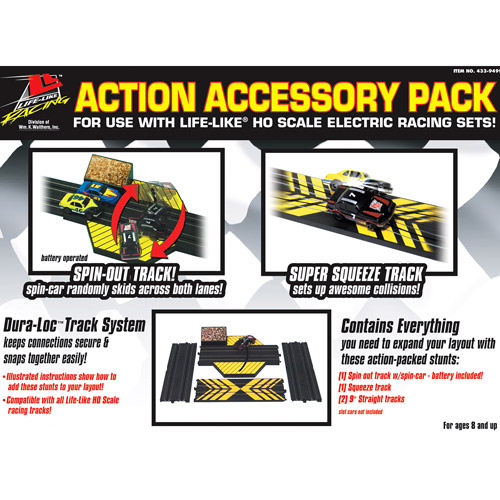 Life-Like HO-Scale Slot Car Race Track Action Accessory Pack