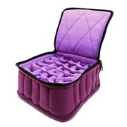 """Essential Oil Carrying Case, 4"""" High, 15-30ml, 30-Bottle, Solid, Deep Purple"""