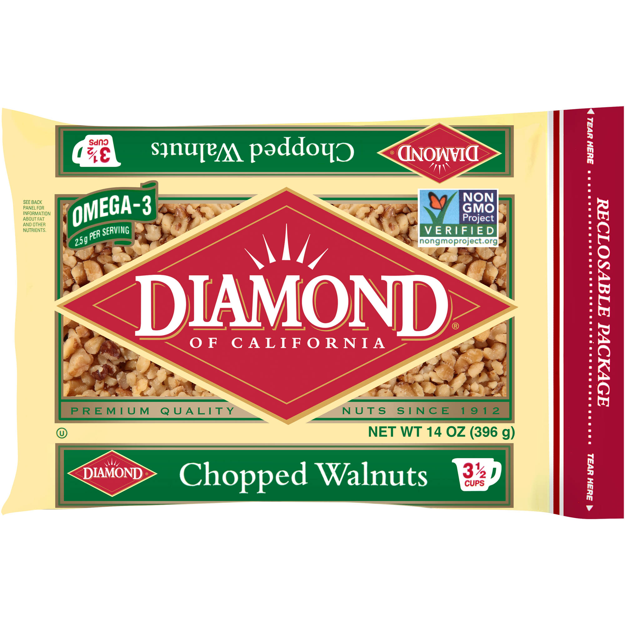 Diamond of California Chopped Walnuts, 14 oz