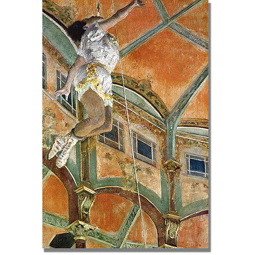 "Trademark Fine Art ""Miss La La at the Cirque Fernando"" Canvas Art by Edgar Degas"