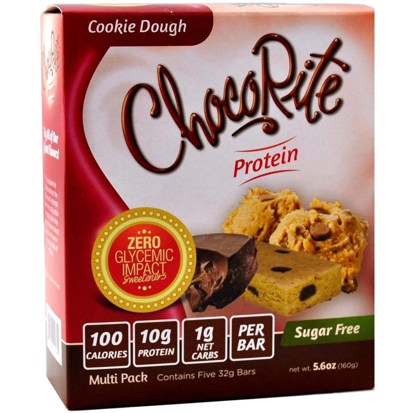 CHOCORITE High Protein Diet Bar  Cookie Dough  Sugar Free, Low Calorie, Cholesterol Free by Chocorite