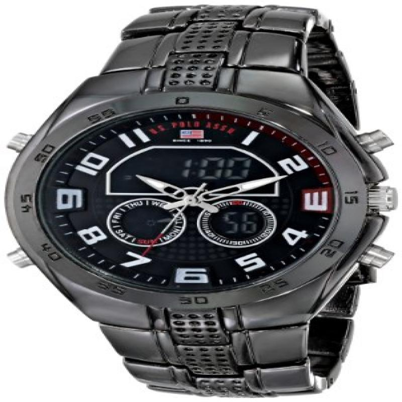 U.S. POLO ASSN Sport Men's US8203 Gunmetal-Tone Watch