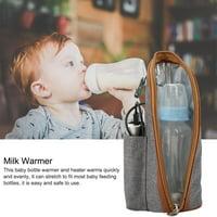 LAFGUR Milk Warmer, Car Milk Heater ,USB Heating Portable Travel Mug Milk Warmer Bottle Heater Feeding Bottle Infant Storage Bag
