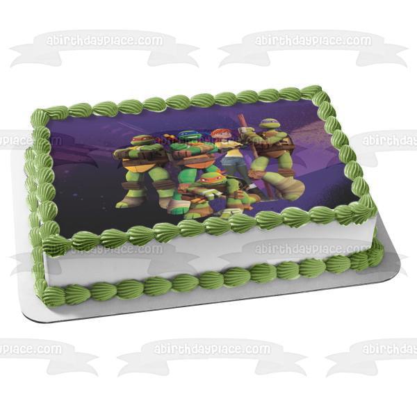 Fabulous Tmnt Teenage Mutant Ninja Turtles Party Edible Cake Sheet Frosting Funny Birthday Cards Online Ioscodamsfinfo