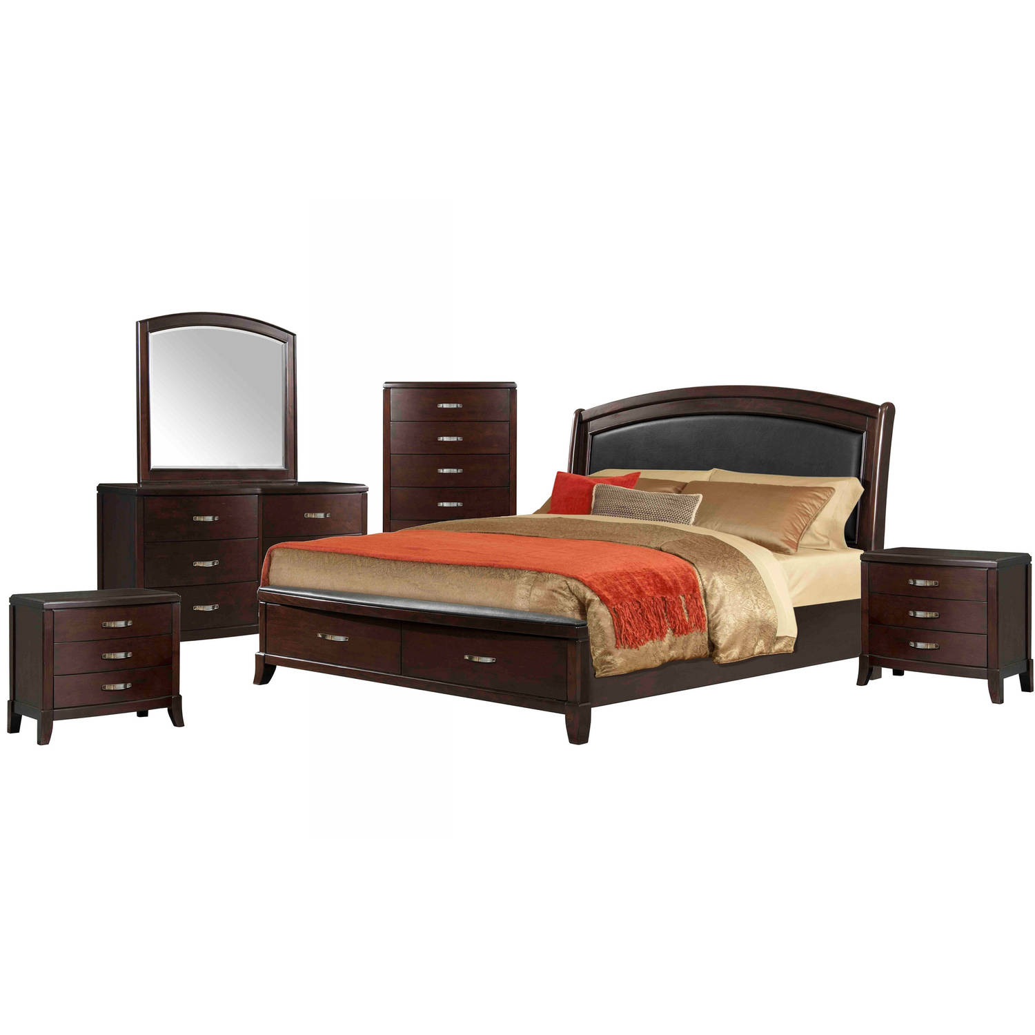 Picket House Furnishings Elaine Queen Platform Storage 6PC Bedroom Set w/ USB
