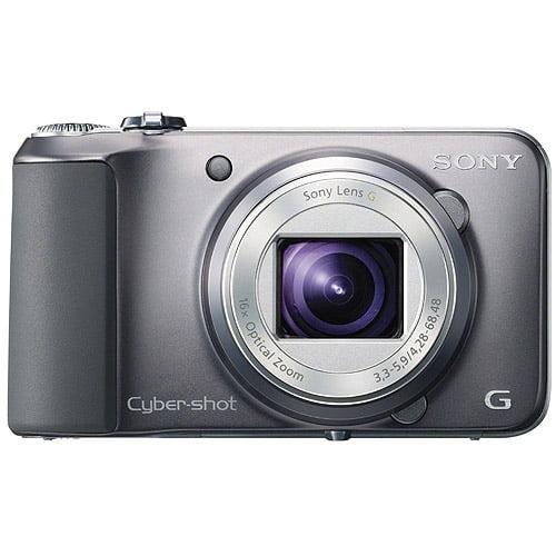 "Sony DSC-H90 Cyber-Shot Silver 16.1MP 16x Ultra Zoom Digital Camera, 3.0"" LCD Display, HD Video Recording"