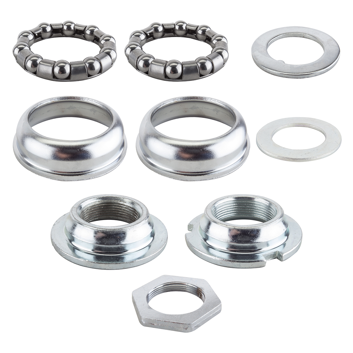 Sunlite 1 Piece 24tpi Silver 65mm Bottom Bracket Cup Set  with Bearings Included