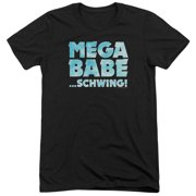 Saturday Night Live Mega Babe Mens Tri-Blend Short Sleeve Shirt