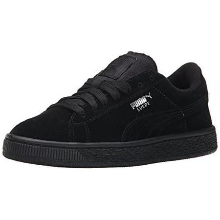 265549d7adce8 puma suede jr classic kids sneaker (little kid/big kid), black silver, 5.5  m us big kid