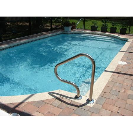 Canvas Print Swimming Underground Pool Swimming Pool Swim Stretched Canvas  10 x 14