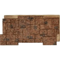 "48""W x 24""H x 1 1/4""D Castle Rock Stacked Stone, StoneWall Faux Stone Siding Panel, Canyon Brown"