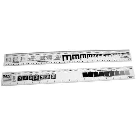 C-Thru Graphic Arts Ruler, 2in x -