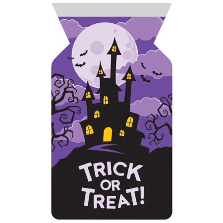 Creative Converting Halloween Cello Bag With Zipper, Haunted House, 12 ct](Creative Easy Halloween Snacks)