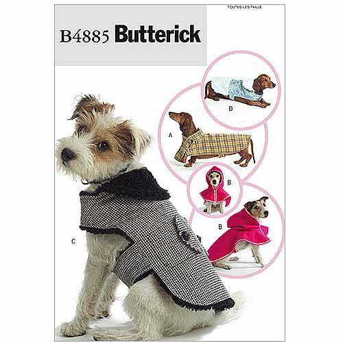 Butterick Pattern Dog Coats, All Sizes