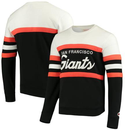 new concept efb8d 814d7 San Francisco Giants Mitchell & Ness Coaches Crew Neck Sweatshirt - Black