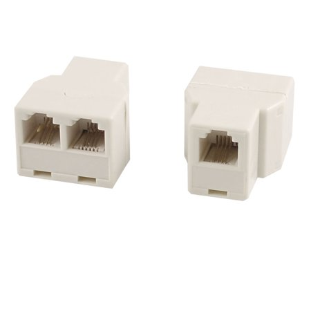 Modular Telephone Jack (Unique Bargains 2 Pcs Plastic RJ11 F-2F F/2F Jack Telephone Modular Splitter Joiner)