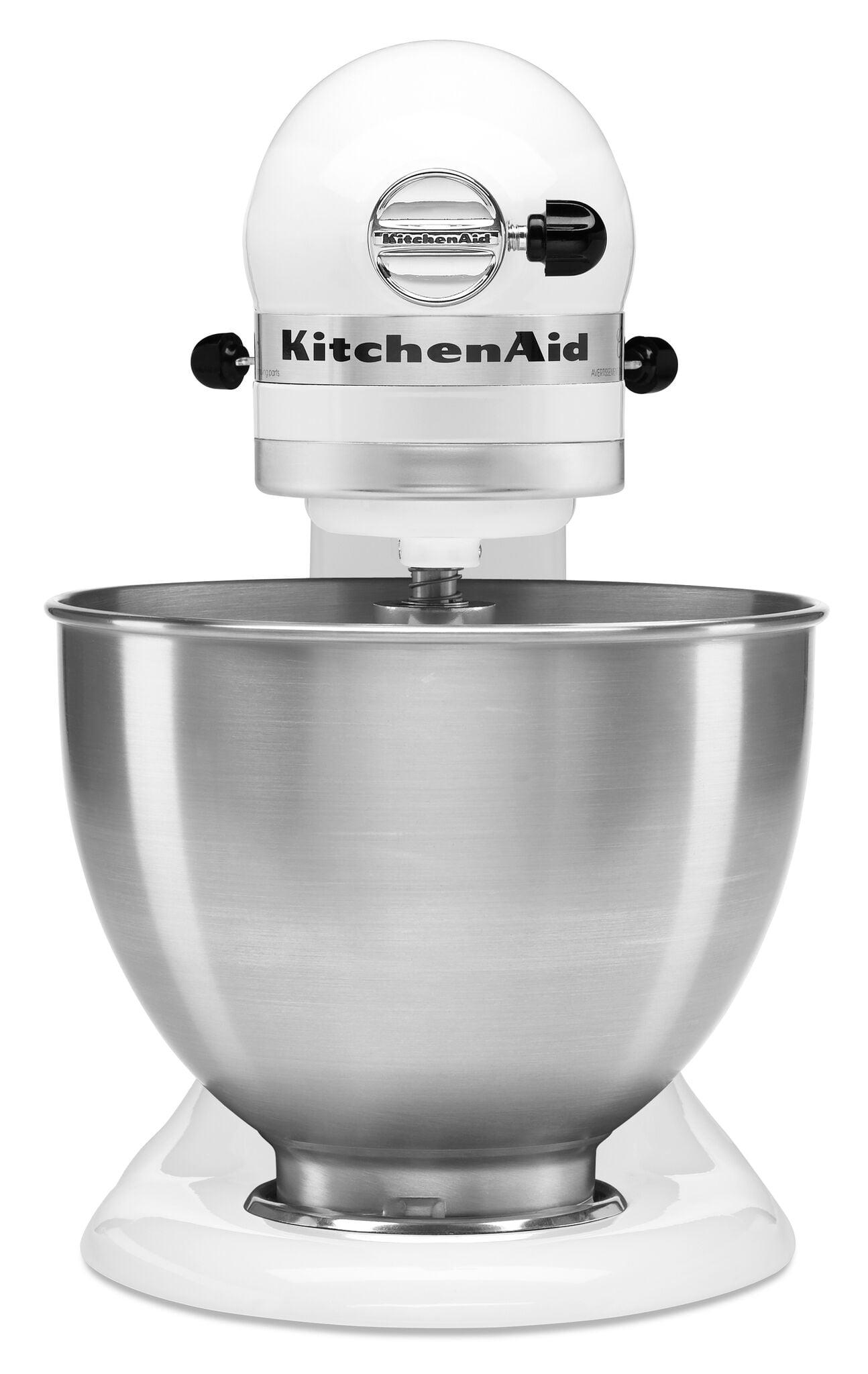 KitchenAid Classic Series 4.5 Quart Tilt Head Stand Mixer, White (K45SSWH)    Walmart.com