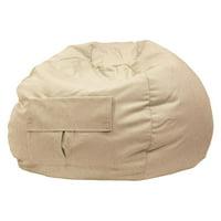 Xxl Denim Look Bean Bag With Cargo Pocke