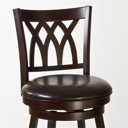 """Bowery Hill 25"""" Swivel Counter Stool in Cherry and Brown - image 1 de 2"""