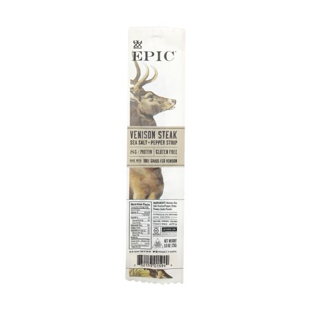 Sea Salt And Pepper Venison Steak Strip, 0.8 oz