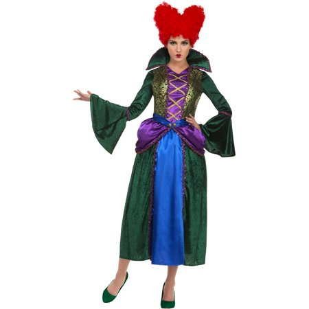 Women's Salem Sisters Witch Dress Bossy Costume - Glinda The Good Witch Dress