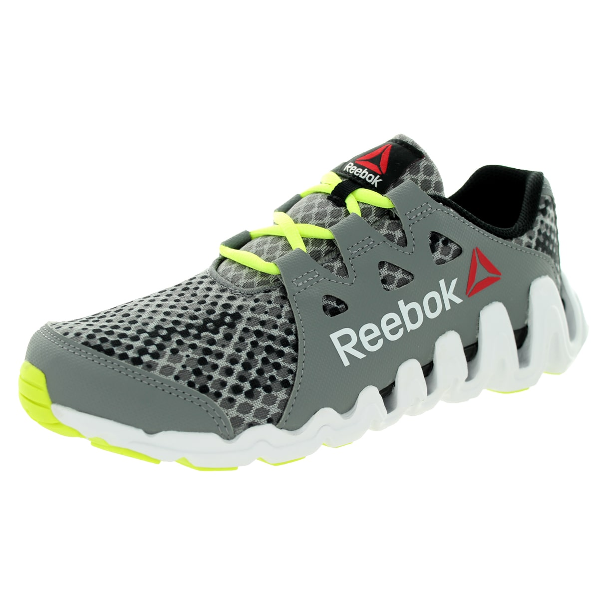 Reebok Reebok Kid's Zigtech Big N Fast BlackYellowWhite Running Shoe