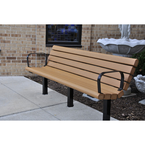 Frog Furnishings Jameson Recycled Plastic Park Bench by Frog Furnishings