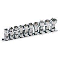Powerbuilt 10 Piece 3/8-Inch Drive Metric Universal Joint Socket Set, 6 Point - 641715