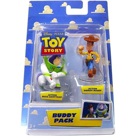 Action Buzz Lightyear & Action Sheriff Woody Mini Figure 2-Pack