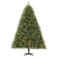 Holiday Time Pre-Lit 7.5' Prescott Pine Artificial Christmas Tree, Led Clear-Lights