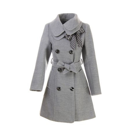 Womens Long Winter Jacket In Vintage Style Stand Up Collar Grey