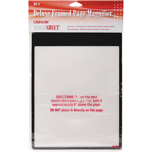 "MagniSheet Deluxe Framed Page Magnifier, 10-3/4"" x 8-1/4"""