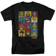Masters Of The Universe Character Heads Mens Short Sleeve Shirt