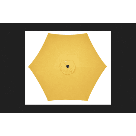 Living Accents 9 Yellow Patio Umbrella Uv Inhibiting Steel Frame 108 X92 5