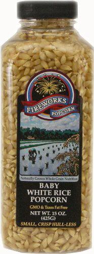 Fireworks Popcorn Baby White Rice, 15 oz Bottles (Pack of 6) by