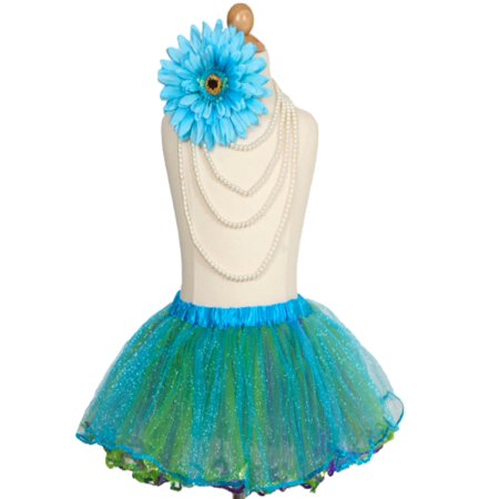 Efavormart Ocean Princess Multi-Color Girls Ballet Tutu Skirt for Dance Performance Events Wedding Party Banquet Event Dance - Green School Girl Skirt