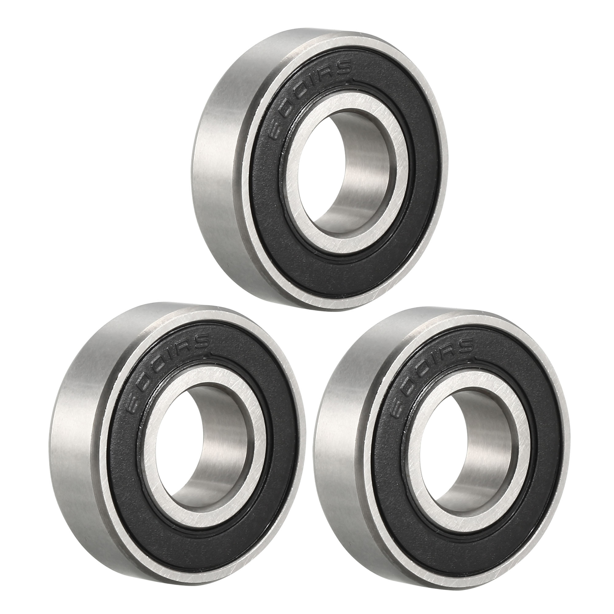 6001-2RS Metal Rubber Ball Bearing Bearings BLACK 6001RS 20 PCS 12x28x8 mm