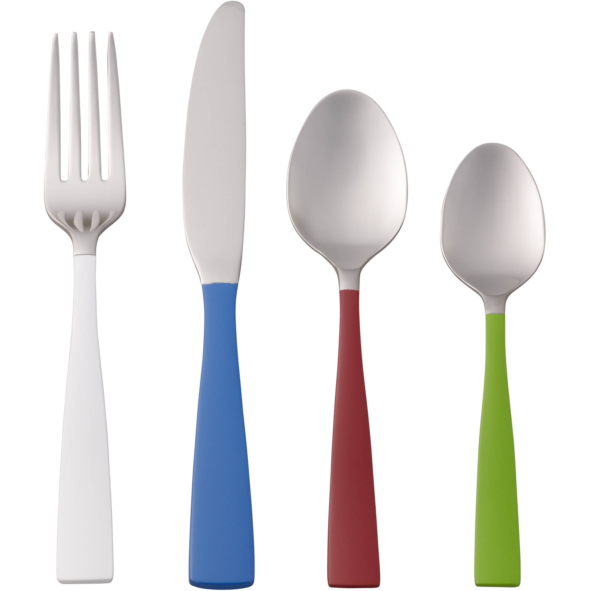 Better Homes and Gardens Urban Multi-Color 16-Piece Flatware Set by