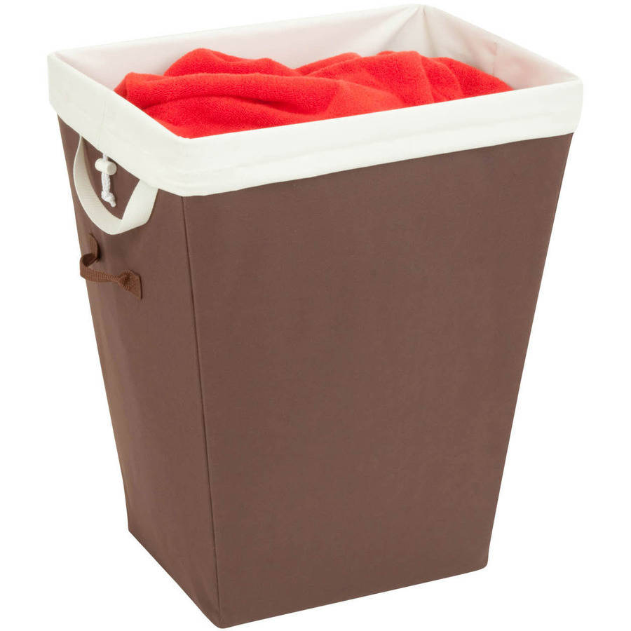 Honey Can Do Hamper with Removable Liner and Handles, Brown/Beige