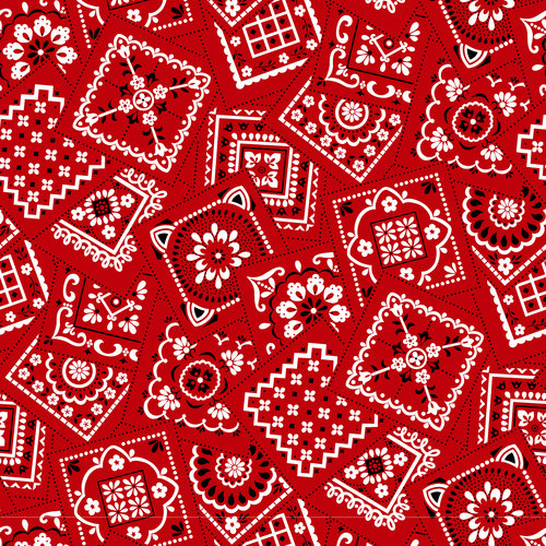 VIP Fabrics Bandana Classic Red Fabric